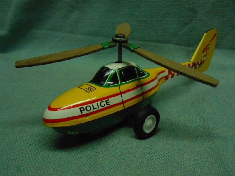 POLICE PATROL HELICOPTER VINTAGE GERMAN CHOPPER FRICTIO