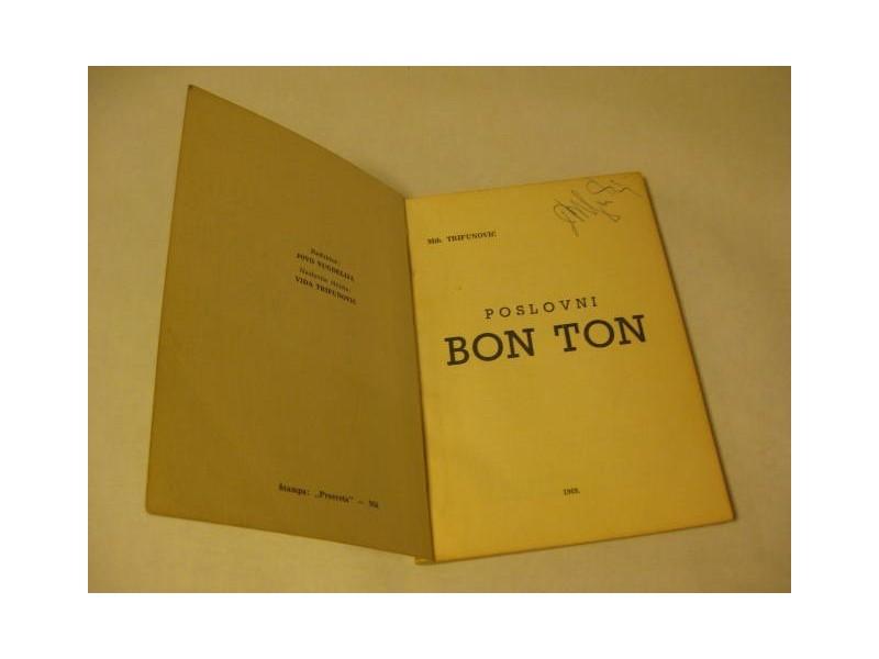 POSLOVNI BONTON M. Trifunović