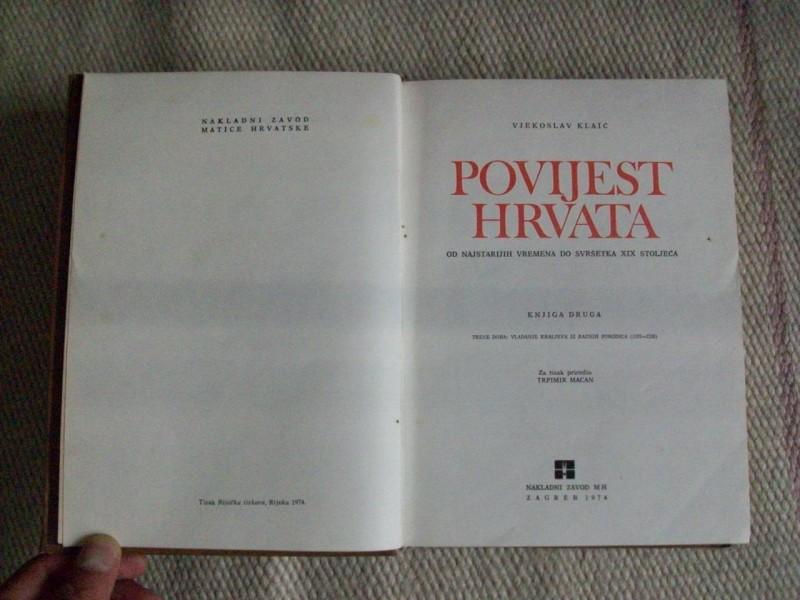 POVIJEST HRVATA  II, Vjekoslav Klaić