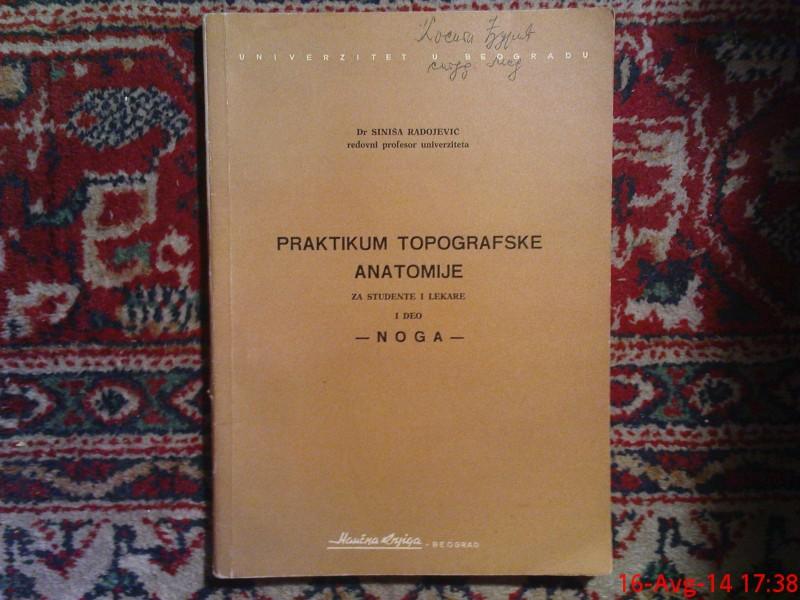 PRAKTIKUM TOPGRAFSKE ANATOMIJE -  NOGA