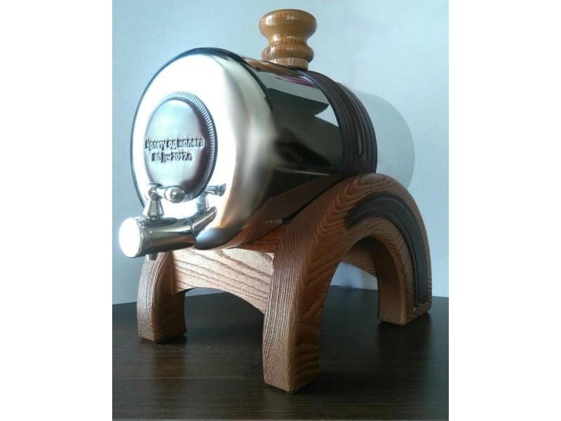 PROHROMSKI BURIĆI zapremine 2 litra, koža-drvo-prohrom