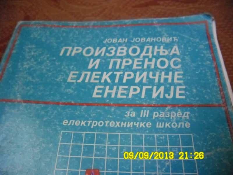 PROIZVODNJA I PRENOS ELEKTRICNE ENERGIJE-Jovan Jovanovi