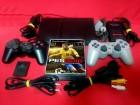 PS2 Black Slim Čip 2 džoj. 20 Igrica Kartica