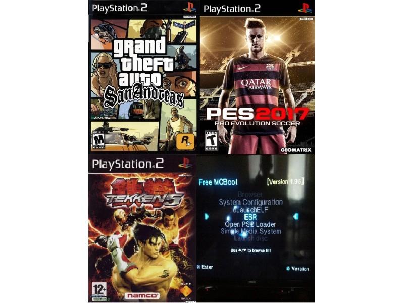 PS2 Modovana Kartica + 3 Igrice
