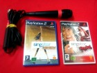 PS2 SingStar mikrofon + 2 Originalne Igre