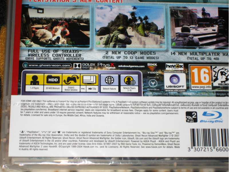 PS3 Igra Ghost Recon Advance Warfighter 2 Essentials