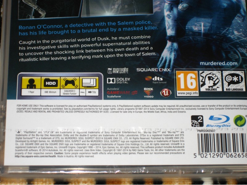 PS3 Igra Murdered Soul Suspect