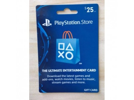 PS3 PS4 Vita PSN Card Dopuna USA 25 USD Dolara