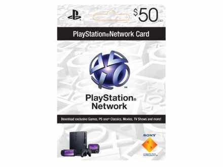 PS3 PS4 Vita PSN Card Dopuna USA 50 Dolara