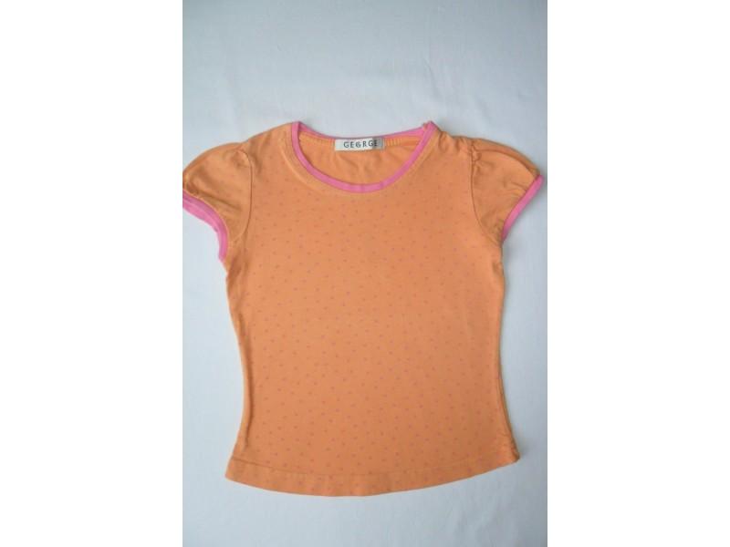 Pamučna narandžasta majica za uzrast 2-3 god.