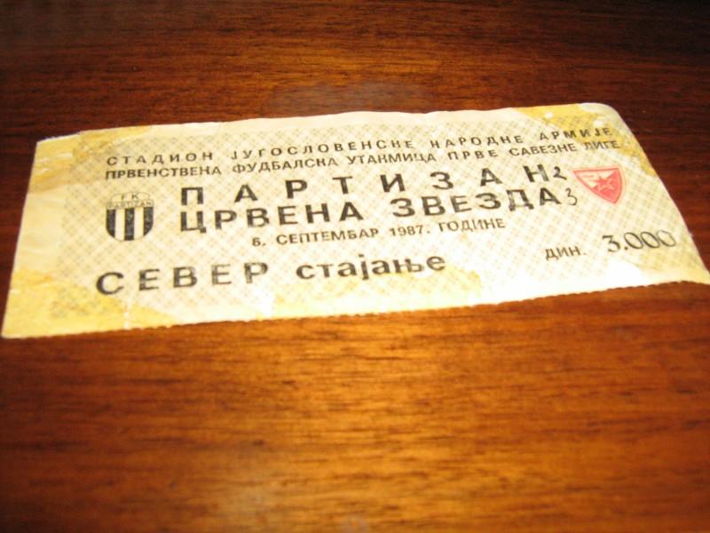 Partizan-Crvena Zvezda-6 sptembar 1987 god.