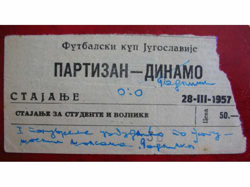 Partizan-Dinamo 1957