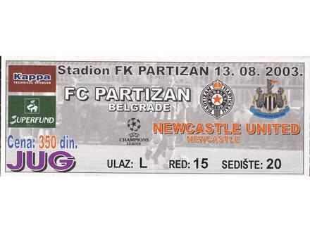 Partizan - Newcastle United , 2003.god.