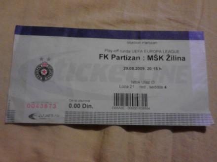 Partizan - Zilina , 20.08.2009.