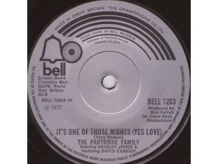 Partridge Family, The - It`s One Of Those Nights (Yes Love)