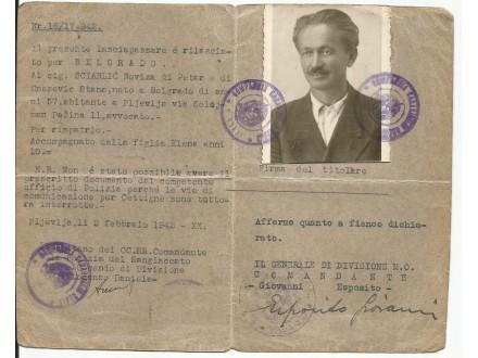 Pasos-iz-1942-Italijanska-Okupacija-Crne