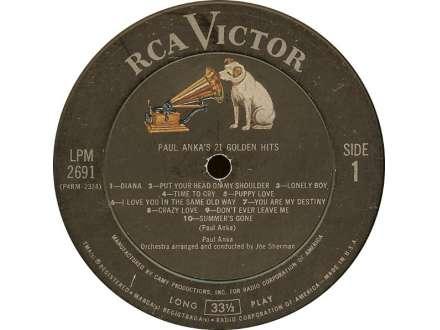 Paul Anka - Paul Anka`s 21 Golden Hits