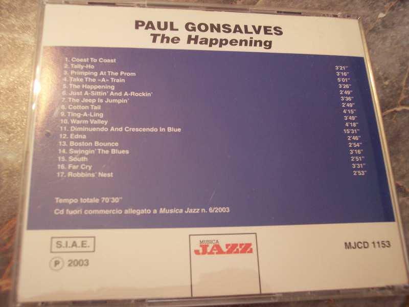 Paul Gonsalves - The Happening