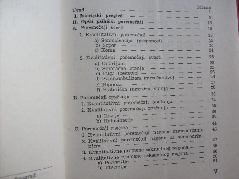 Pavle Milekić, DUŠEVNE BOLESTI I NEUROZE