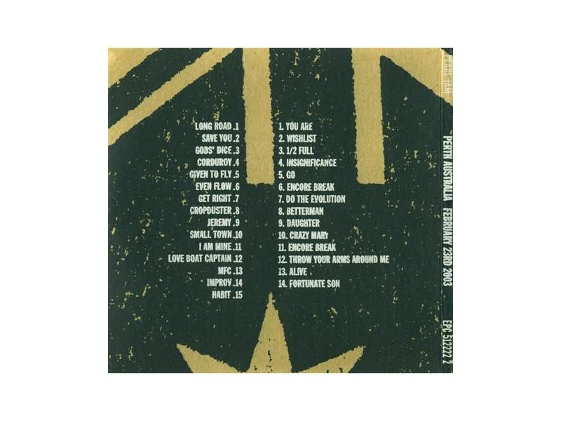 Pearl Jam - Perth, Australia - February 23rd, 2003