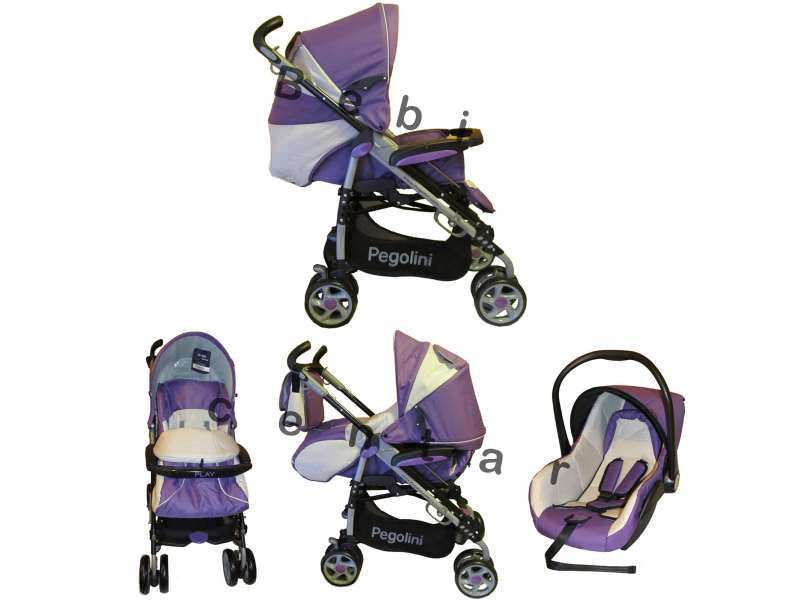Pegolini kolica za decu Play plus sa auto sedištem