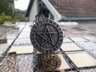 Pentagram sa runskim pismom ogrlica,Rune