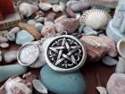 Pentagram simbol privezak za kljuceve,Petokraka zvezda