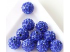 Perla sa cirkonima šambala 10mm plava