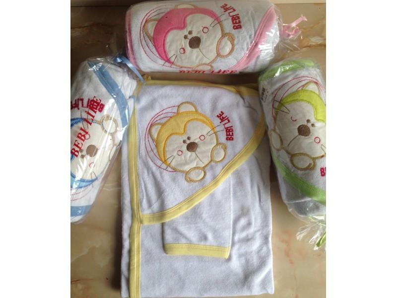 Peskir za bebe sa rukavicom,upakovan za poklon Zelena