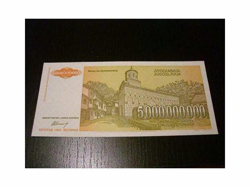 Pet (5.000.000.000) dinara