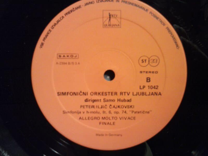 Peter Ilitch Tschaikowsky - Simfonija V H-Molu št.6, op.74 Patetična