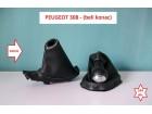 Peugeot 308 kožice menjača i ručne (beli konac) NOVO