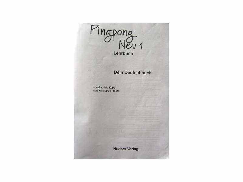 Pingpong Nev 1 Dein Deutschbuch - Hueber Verlag