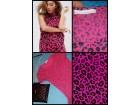 Pink leopard/tigrasti print sa volanom