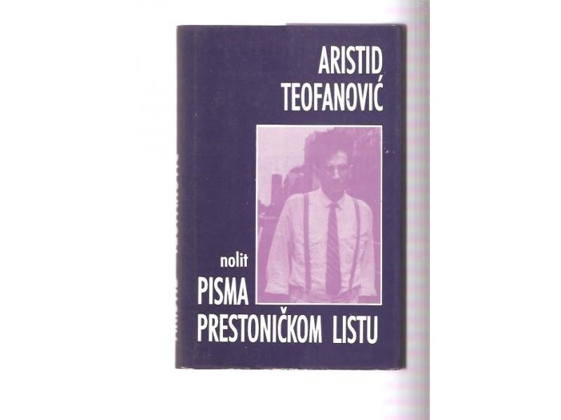 Pisma prestoničkom listu Aristid Teofanović