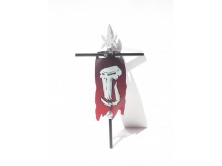 Plastic Flag 4 x 8Tattered with Fantasy Era Troll