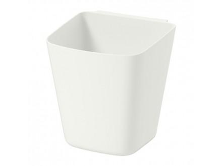Plasticna posuda za visecu sipku. Bela boja. NOVO. IKEA