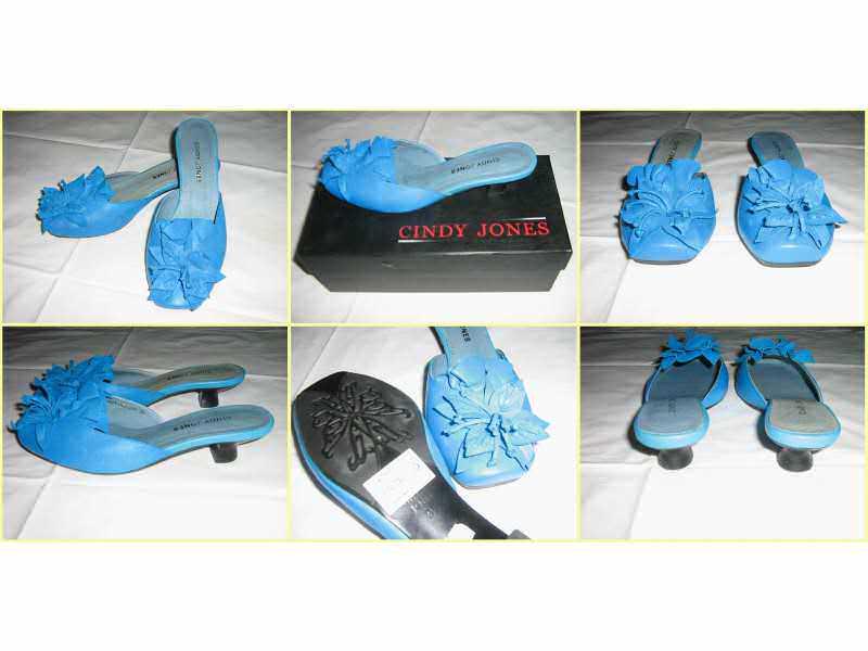 Plave Kozne papuce na stiklu broj 35 / 23cm