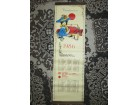 Plavokapica zidni kalendar iz 1986 Retko
