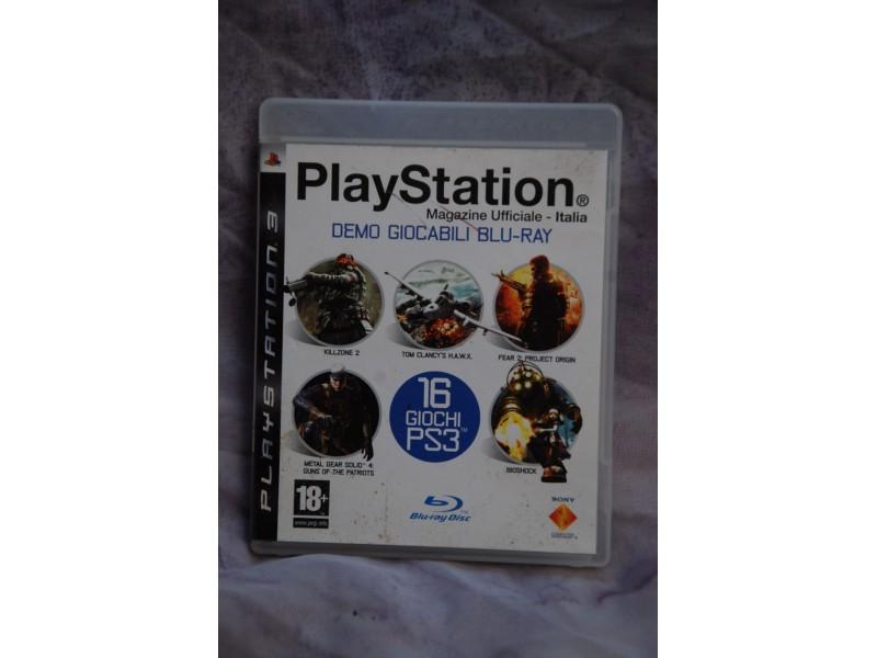 PlayStation  3 IGRICE   DEMO GIOCABILI BLU-RAY