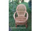 Pletena stolica od pruća za baštu i kuću `Bosna`