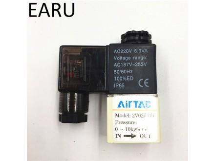 Pneumatika elektromagnetni ventil 2V025-08 220VAC 10At
