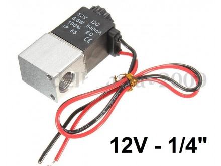 Pneumatski elektromagnetni ventil - 12V - 1/4` - NC