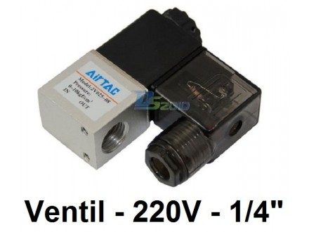 Pneumatski elektromagnetni ventil - 220V - 1/4` - NC