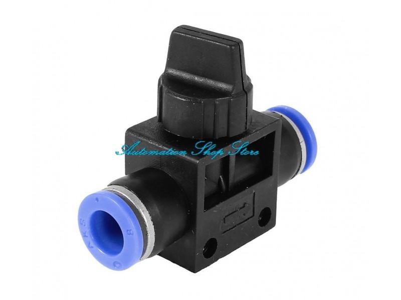 Pneumatski rucni ventil 8mm - HVU08-08