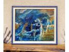 Podvodni svet-ulje na lesonitu 50 x 42- umetnicka slika