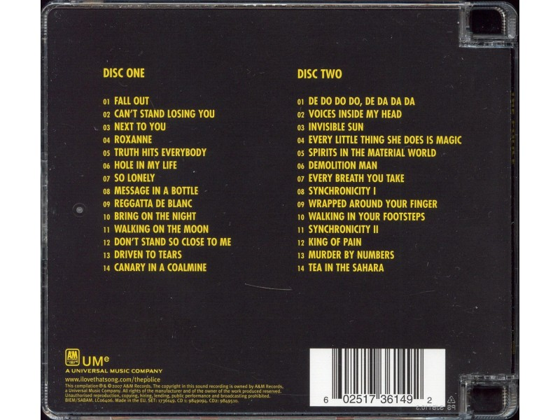 Police ‎– The Police  2xCD