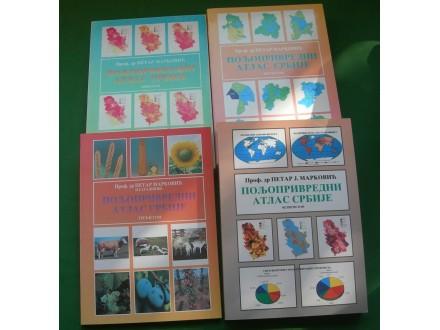 Poljoprivredni atlas Srbije I-IV - dr Petar Marković