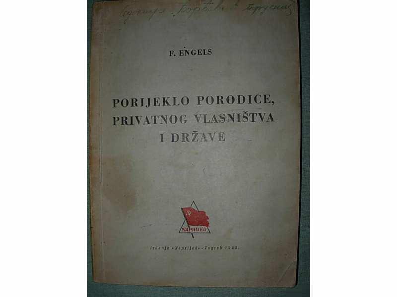 Poreklo porodice, privat.vlasništva i države F. Engels