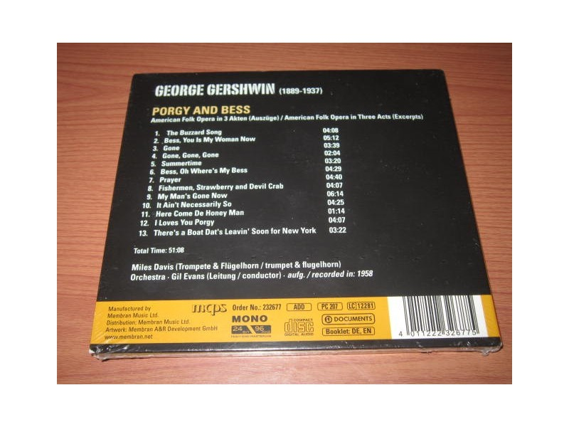 Porgy and Bess - George Gershwin (Miles Davis-Gil Evans